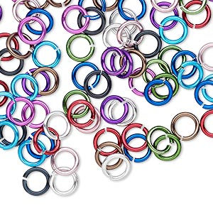 Open Jumprings Aluminum Mixed Colors