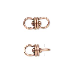 Link, JBB Findings, Antique Copper-plated Brass, 16x7.5mm Center Swivel. Sold Per Pkg 2 8768LBRACO