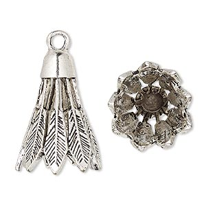 Cones Silver Plated/Finished Silver Colored
