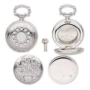 Watch Components Silver Plated/Finished Silver Colored