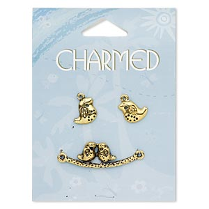 Charms Gold Plated/Finished Gold Colored