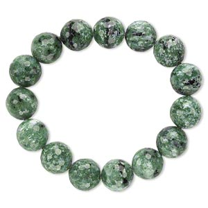 Bracelet, Stretch, Ruby Zoisite (natural), 13-14mm Faceted Round, 7 Inches. Sold Individually A6612CL