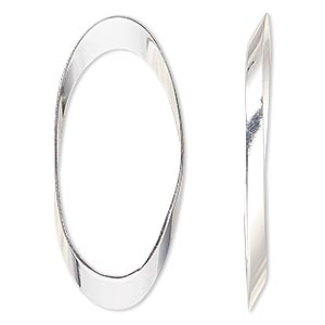Focal, Sterling Silver-filled, 44x20mm Open Oval. Sold Per Pkg 2