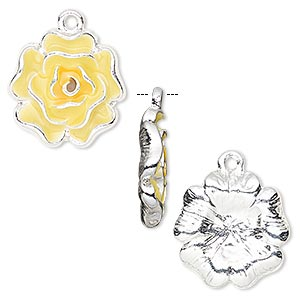 Charms Enameled Metals Yellows