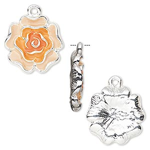Charms Enameled Metals Oranges / Peaches