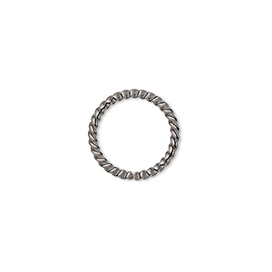 Open Jump Rings Gunmetal Greys