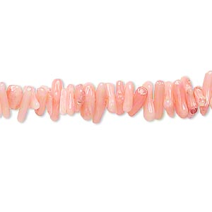 Bead, Bamboo Coral (dyed), Light Dark Pink, 6x1mm-10x2mm Cupolini, C Grade, Mohs Hardness 3-1/2 4. Sold Per 15-inch Strand