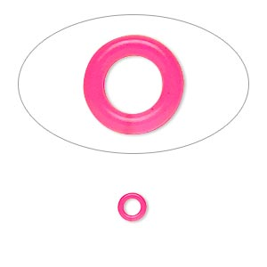 Soldered Closed Jump Rings Silicone Pinks