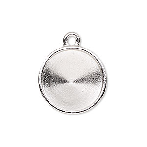 Drop and Link Settings Rhodium-plated Silver Colored