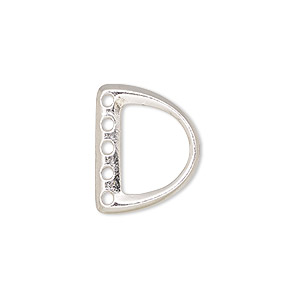 End Bar Rhodium-plated Silver Colored