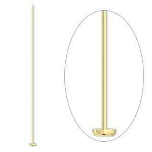Headpin, 14Kt Gold-filled, 2 Inches, 26 Gauge. Sold Per Pkg 25