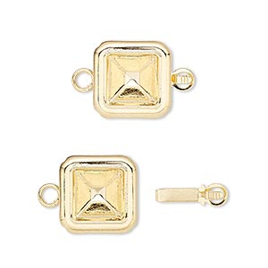 Box (Tab) Clasp Gold Plated/Finished Gold Colored