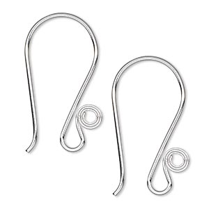 Hook Earwires Silver Plated/Finished Silver Colored