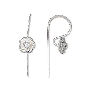 Hook Ear Wire Findings Silver Plated/Finished Silver Colored
