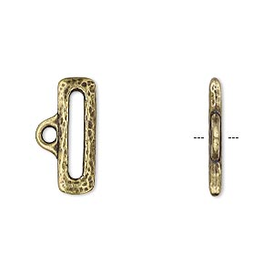 Cord Ends Brass Plated/Finished Gold Colored