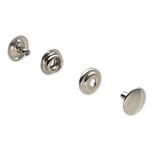 Snap Fasteners Nickel Silver Colored