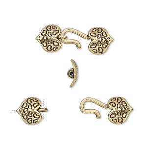 Hook and Eye Brass Gold Colored