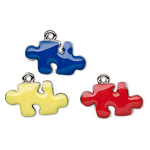 Charms Enameled Metals Silver Colored