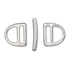 Toggle Rhodium-plated Silver Colored