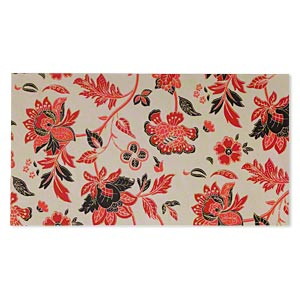 paper, cotton fiber, multicolored, 11x6 inch rectangle with single-sided floral design. sold per pkg of 2 sheets.