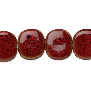 Beads Porcelain / Ceramic Reds