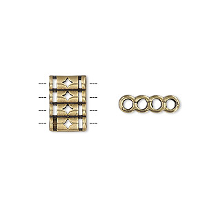 Spacer Beads Brass Gold Colored