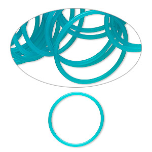 Soldered Closed Jump Rings Silicone Blues