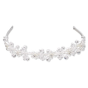Hair Accessories Imitation rhodium-plated Silver Colored