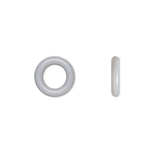 Soldered Closed Jump Rings Silicone Silver Colored