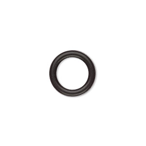 Soldered Closed Jump Rings Silicone Blacks