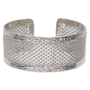 Bracelet Bases Rhodium-finished Silver Colored
