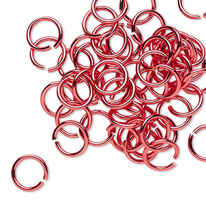 Open Jump Rings Brass and Brass-Plated Reds