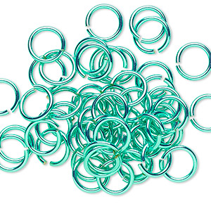 Open Jump Rings Brass and Brass-Plated Greens