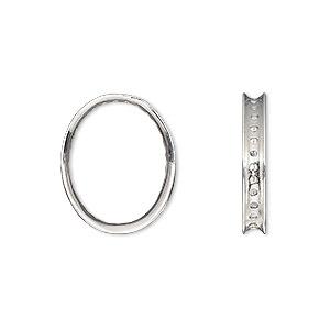 .925 Sterling Silver Polished w//Oval ID Plate 3mm Bangle Bracelet