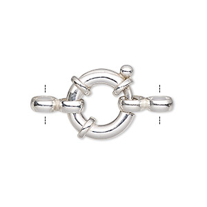 Springring Sterling Silver Silver Colored