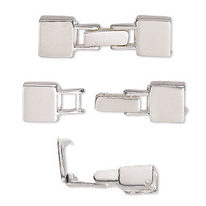 Clasp Fold Over Sterling Silver 30x9mm With Terminator Cord Ends 7x3mm Inside Diameter Sold Individually Fire Mountain Gems And Beads