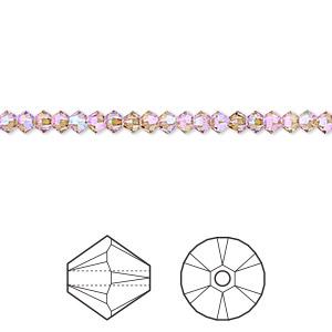 5328 Swarovski® Crystal Bicone Beads Light Colorado Topaz Shimmer