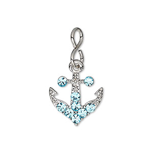 Charms Imitation rhodium-plated Silver Colored