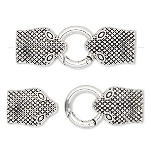 Hinged Clip Silver Plated/Finished Silver Colored