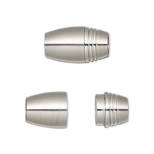 4 stainless steel magnetic clasps silver color 6mm