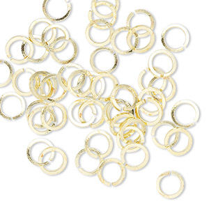 Open Jump Rings Brass Gold Colored