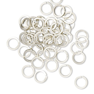 Open Jump Rings Nickel Silver Silver Colored
