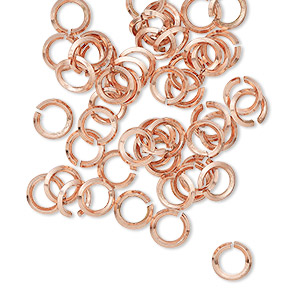 Open Jump Rings Copper Copper Colored