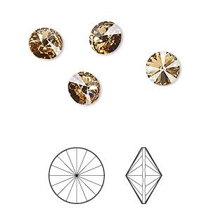 ed28d128b Chaton, Swarovski® crystal rhinestone, light Colorado topaz, foil ...