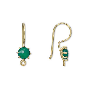 Hook Ear Wire Findings Onyx Greens