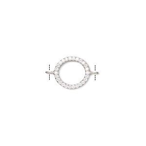 Rhodium plated SALE  20pcs  NP-1814-06 6mm Cubic connectors Cubic Pendant