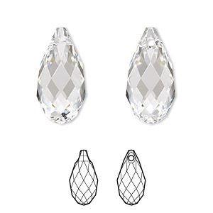 Crystal Pointed Pencil Briolette BL3660 5x19-5x20 mm 20 Pieces Natural Rock Crystal Faceted Pencil Shape Briolette