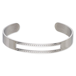 Bracelet Bases Stainless Steel Silver Colored