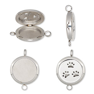 Pendants Stainless Steel Silver Colored