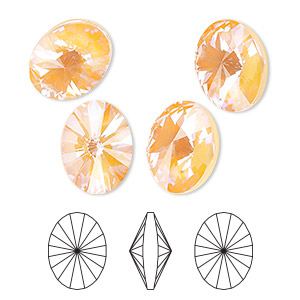 Fancy Stones Swarovski Oranges / Peaches